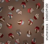 pattern for wrapping  cover....   Shutterstock .eps vector #1068109100