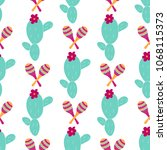 seamless pattern with hand... | Shutterstock .eps vector #1068115373