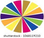 color wheel   segments of... | Shutterstock . vector #1068119210