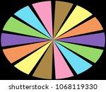 color wheel   segments of... | Shutterstock . vector #1068119330