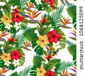 flowers pattern.for textile ... | Shutterstock . vector #1068125099