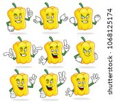 sweet pepper character vector...   Shutterstock .eps vector #1068125174