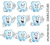 tooth character vector pack ...   Shutterstock .eps vector #1068125180