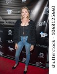 """Small photo of Chantelle Albers attends Epic Pictures """"#SCREAMERS"""" Los Angeles Premiere at Vintage Los Feliz Theatre, Los Angeles, CA on April 12th, 2018"""