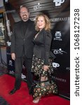 "Small photo of Kevin Tenney, Amelia Kinkade attend Epic Pictures ""#SCREAMERS"" Los Angeles Premiere at Vintage Los Feliz Theatre, Los Angeles, CA on April 12th, 2018"