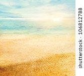 beach summer background  with...
