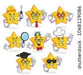 star character vector pack ... | Shutterstock .eps vector #1068129086