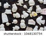 meerschaum ornamental articles. ... | Shutterstock . vector #1068130754