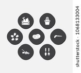 set of 7 horticulture icons set.... | Shutterstock .eps vector #1068133004