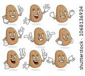 potato character vector pack ... | Shutterstock .eps vector #1068136934