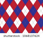 red  white and blue argyle... | Shutterstock .eps vector #1068137624