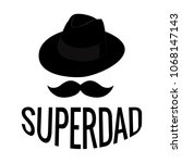 abstract super dad | Shutterstock .eps vector #1068147143