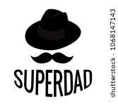 abstract super dad | Shutterstock .eps vector #1068147143