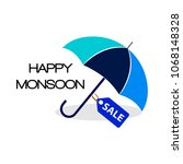 abstract monsoon sale | Shutterstock .eps vector #1068148328