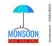 abstract monsoon sale | Shutterstock .eps vector #1068148334