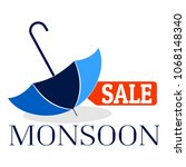 abstract monsoon sale | Shutterstock .eps vector #1068148340