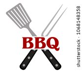 abstract bbq label | Shutterstock .eps vector #1068148358