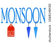 abstract monsoon sale | Shutterstock .eps vector #1068148430