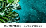 creative tropical leaves... | Shutterstock . vector #1068148898