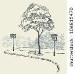 vector cityscape. cozy corner... | Shutterstock .eps vector #106815470