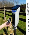 Small photo of Wilmington, Delaware, U.S.A - April 13, 2018 - SemaConnect charger for electric cars