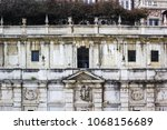 facade of the ancient building... | Shutterstock . vector #1068156689