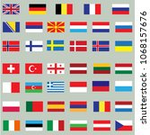 europe flags. vector | Shutterstock .eps vector #1068157676