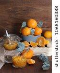 tangerine home made jam | Shutterstock . vector #1068160388