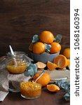 tangerine home made jam | Shutterstock . vector #1068160394