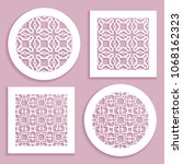 templates for laser cutting ... | Shutterstock .eps vector #1068162323