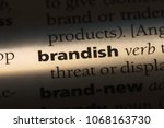 Small photo of brandish word in a dictionary. brandish concept.