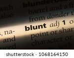 Small photo of blunt word in a dictionary. blunt concept.