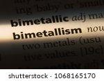 Small photo of bimetallism word in a dictionary. bimetallism concept.
