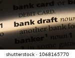 bank draft word in a dictionary.... | Shutterstock . vector #1068165770
