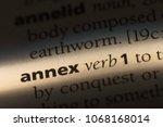 Small photo of annex word in a dictionary. annex concept.