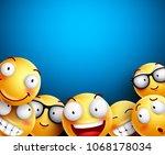 smiley background vector... | Shutterstock .eps vector #1068178034