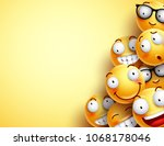 yellow smileys vector... | Shutterstock .eps vector #1068178046