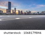 urban traffic road with... | Shutterstock . vector #1068179846