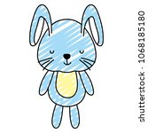 doodle nice male rabbit teddy... | Shutterstock .eps vector #1068185180