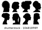 face woman profile vector... | Shutterstock .eps vector #106818989
