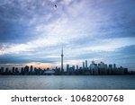 city skyline at dusk | Shutterstock . vector #1068200768