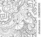 tracery seamless pattern....   Shutterstock .eps vector #1068200930