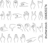 hand collection   vector line...   Shutterstock .eps vector #106820276