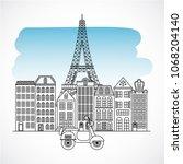 france paris architecture | Shutterstock .eps vector #1068204140
