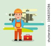 people workers  profession  | Shutterstock .eps vector #1068205286