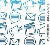 social media pattern chat... | Shutterstock .eps vector #1068207146