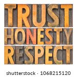trust  honesty  respect  ... | Shutterstock . vector #1068215120
