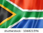 south africa flag  three... | Shutterstock . vector #106821596