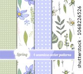 set with four endless patterns. ...   Shutterstock .eps vector #1068226526
