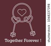 keys in heart shape and the...   Shutterstock .eps vector #1068237398
